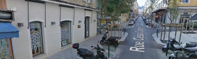 trottoirs de la rue campinchi Bastia
